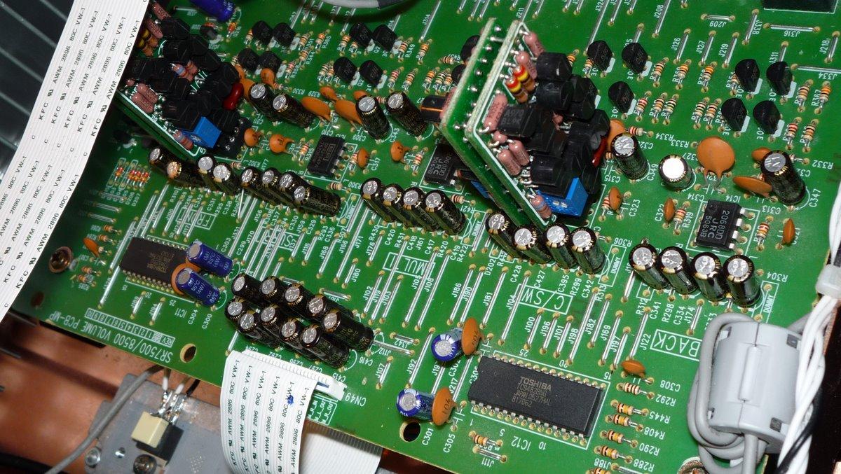 Marantz SR-8500 and Rotel RCD-965BX discrete opamp