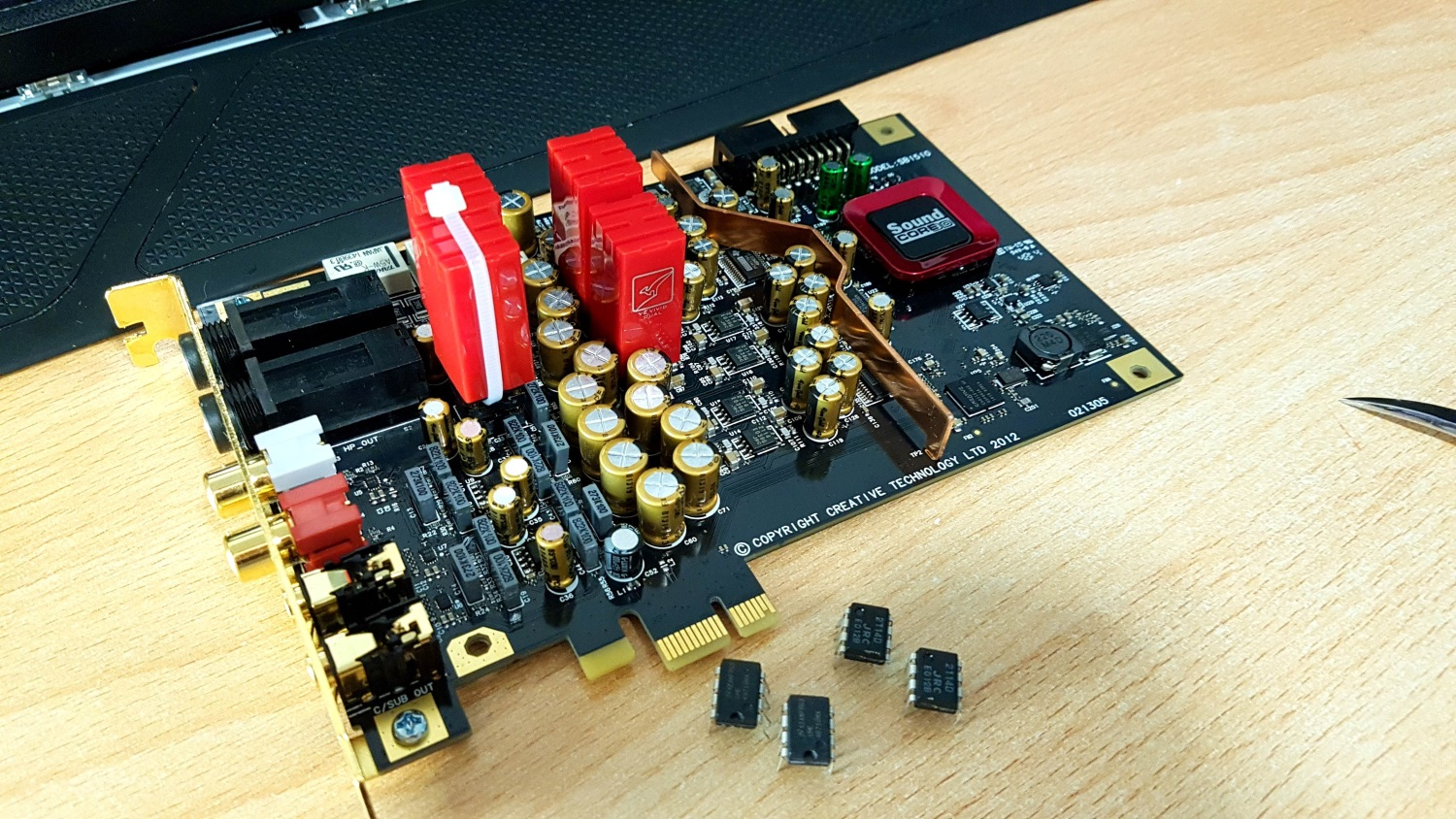 Creative Sound Blaster Zxr With Burson V6 Vivid Opamp Audio Op Amp How To Disable A Single In Dual Packaging