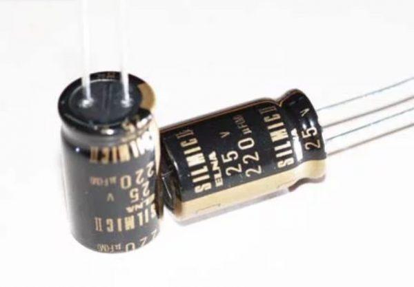 6 pcs Elna Silmic II capacitor 50v 220uf Audio Grade Premium
